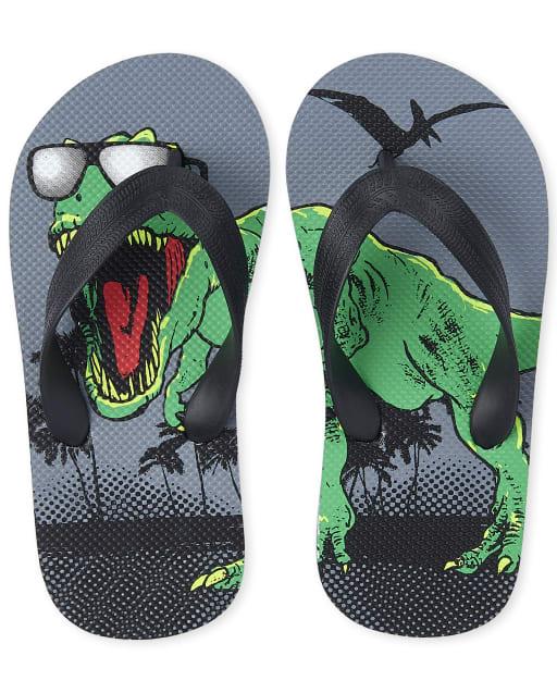 Boys Dino Flip Flops