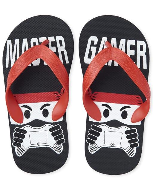 Boys 'Master Gamer' Ninja Flip Flops