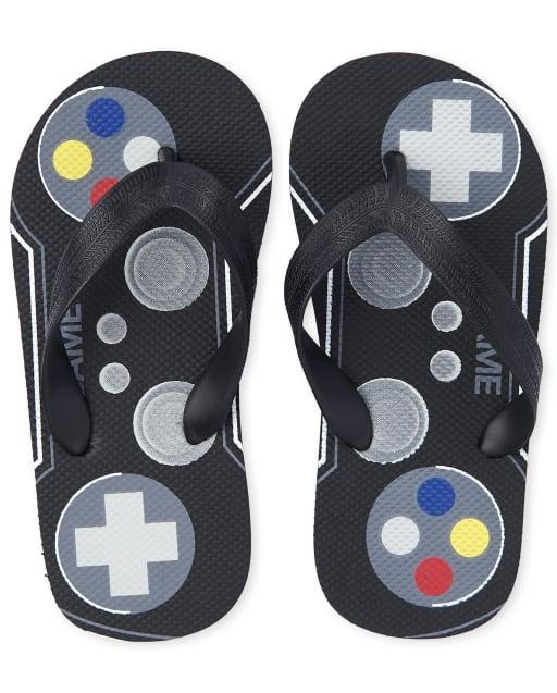 Boys Video Game Flip Flops
