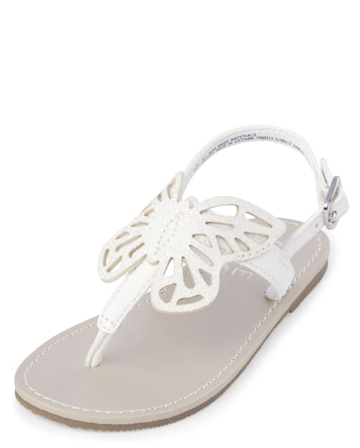 Toddler Girls Easter Butterfly Faux Leather Matching T-Strap Sandals