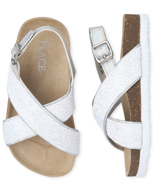 The Childrens Place Girls Sandal mix metallic TDDLR 4