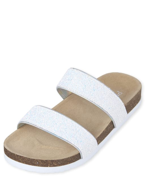 Girls Glitter Faux Leather Matching Sandals