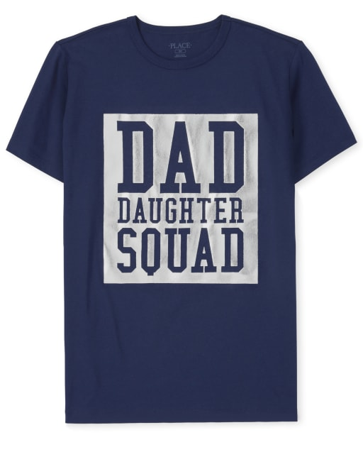 Mens Matching Family 'Dad Daughter Squad' Graphic Tee