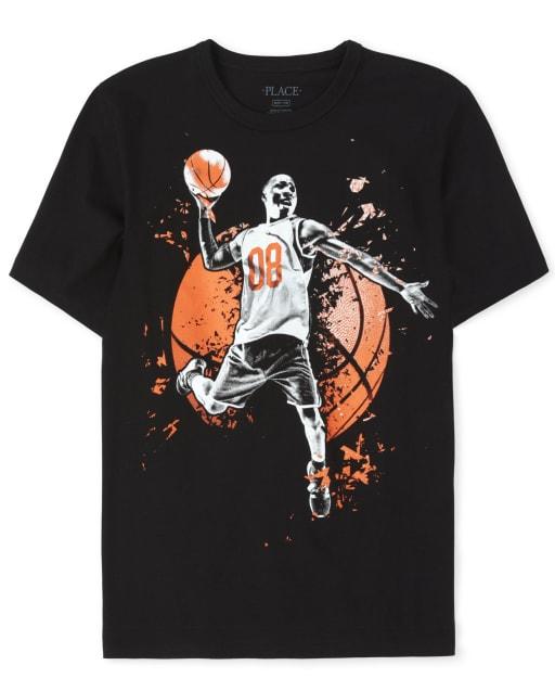 Boys Short Sleeve Basketball Graphic Tee