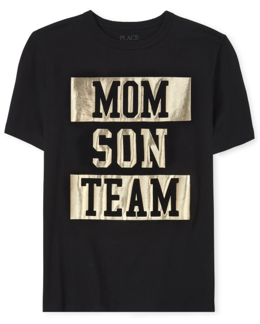 Boys Matching Family Short Sleeve Foil 'Mom Son Team' Graphic Tee