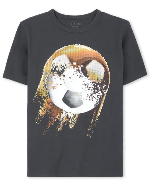 Boys Short Sleeve Soccer Graphic Tee