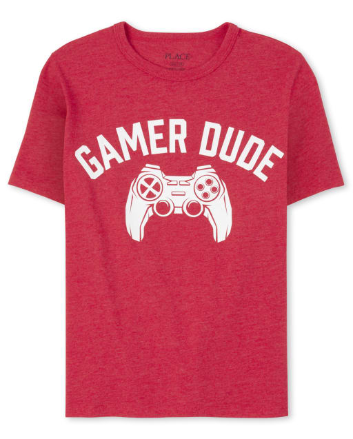 Boys Dad And Me Short Sleeve 'Gamer Dude' Video Game Matching Graphic Tee
