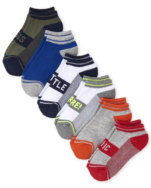 Boys Hustle Cushioned Ankle Socks 6-Pack