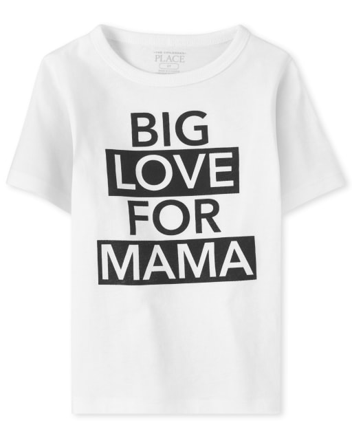 Baby And Toddler Boys Short Sleeve 'Big Love For Mama' Graphic Tee