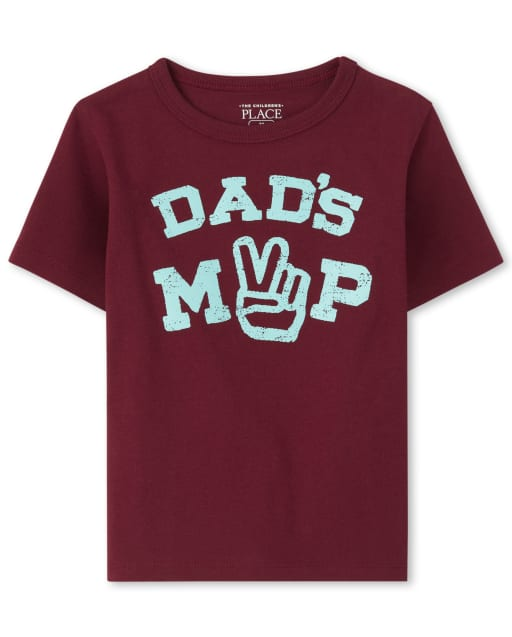 Baby And Toddler Boys Short Sleeve 'Dad's MVP' Graphic Tee