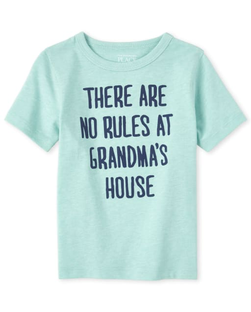 Baby And Toddler Boys Short Sleeve 'There Are No Rules At Grandma's House' Graphic Tee
