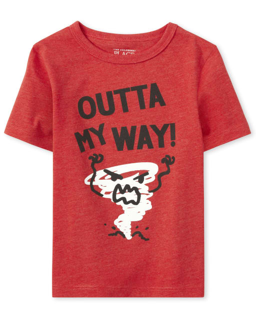 Baby And Toddler Boys Short Sleeve 'Outta My Way' Tornado Graphic Tee