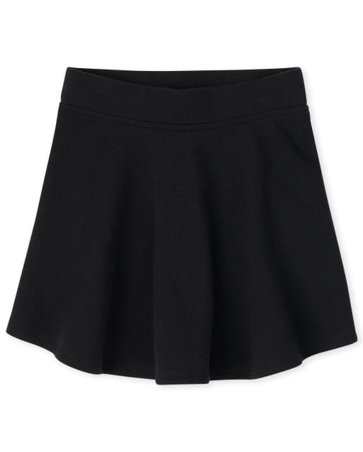 Girls Uniform Active French Terry Knit Skort