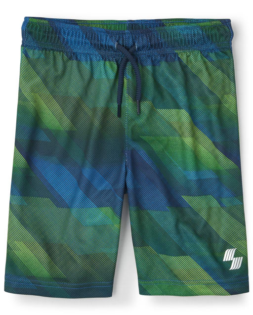 Boys PLACE Sport Print Mesh Knit Performance Basketball Shorts
