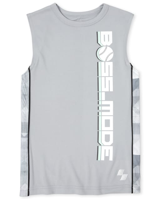 Boys PLACE Sport Sleeveless Graphic Side Stripe Performance Muscle Tank Top