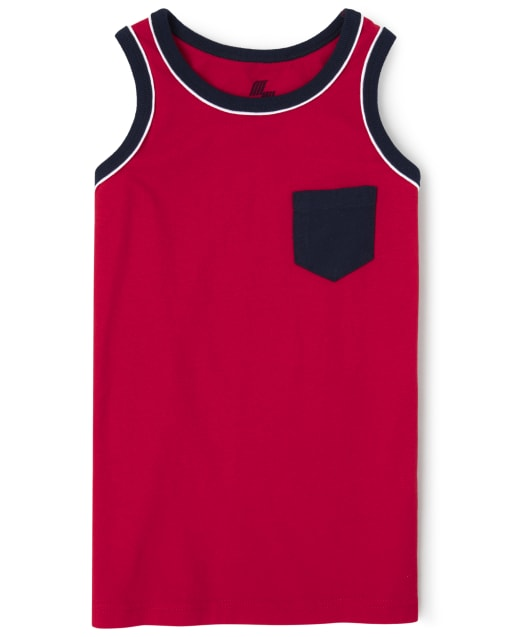 Boys Mix And Match Sleeveless Pocket Tank Top
