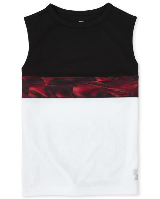 Boys PLACE Sport Sleeveless Colorblock Performance Muscle Top
