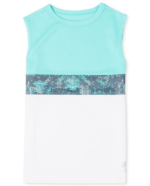 Boys PLACE Sport Sleeveless Colorblock Performance Tank Top