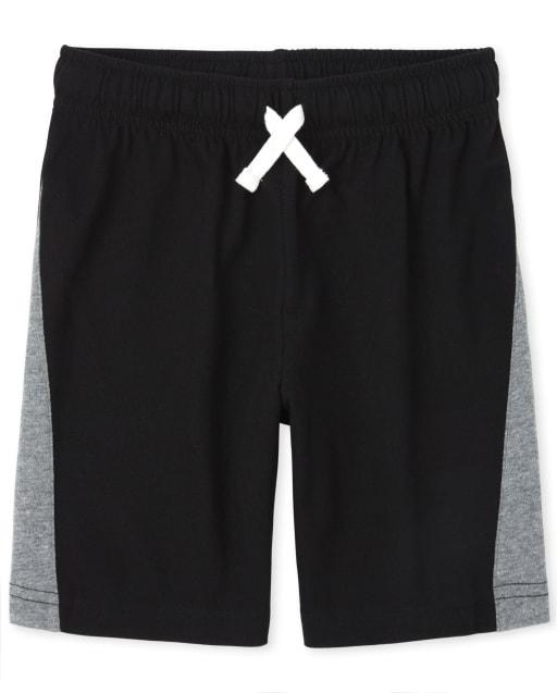 Boys Mix And Match Side Stripe Knit Basketball Shorts