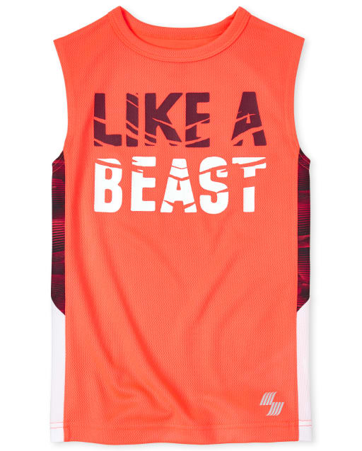 Boys PLACE Sport Sleeveless 'Swing' Side Stripe Graphic Performance Tank Top