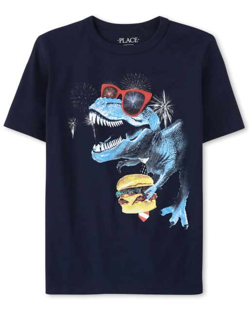 Boys Short Sleeve Holographic Lenticular Graphic Top