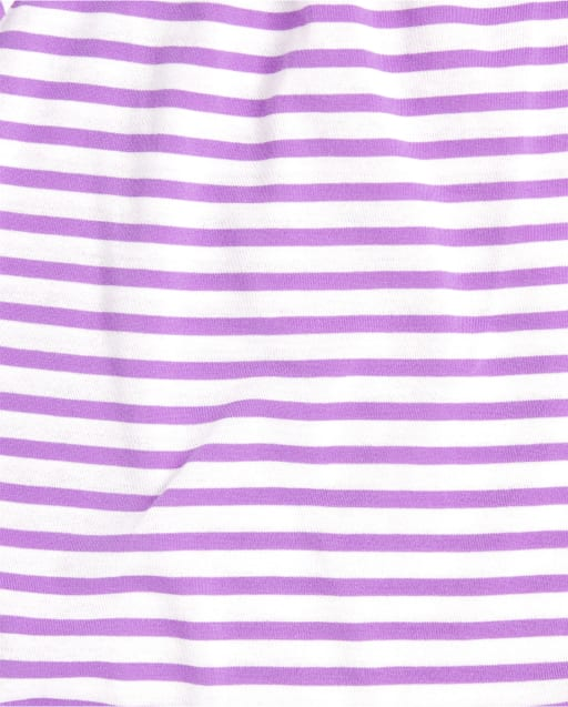 The Childrens Place Girls Short Sleeve Striped Front Tie Top