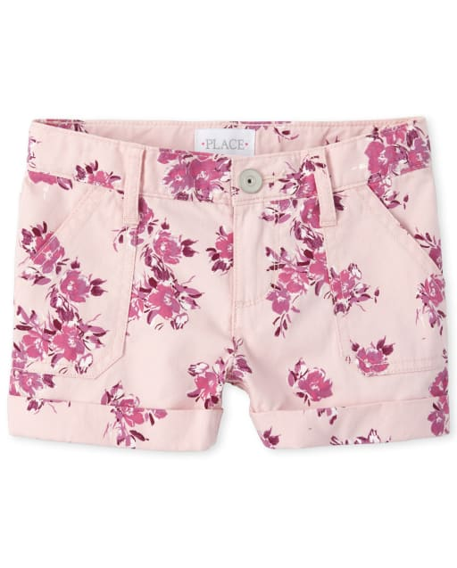 Girls Floral Twill Shorts
