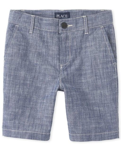 Boys Crosshatch Woven Chino Shorts