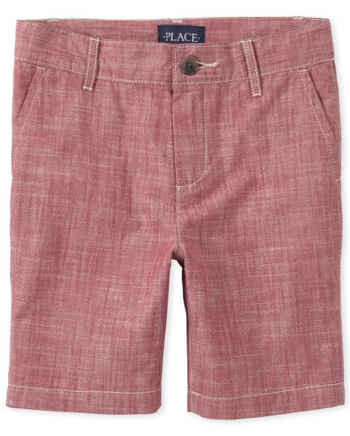 Boys Crosshatch Woven Chino Shorts