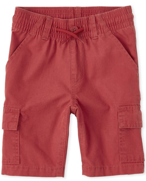 Boys Woven Pull On Cargo Shorts