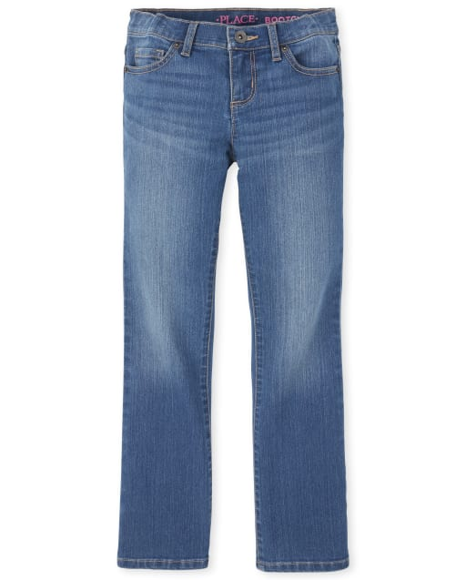 Girls Basic Stretch Bootcut Jeans