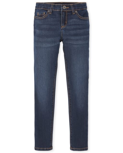 Girls Basic Super Skinny Jeans - Dark Twilight Wash