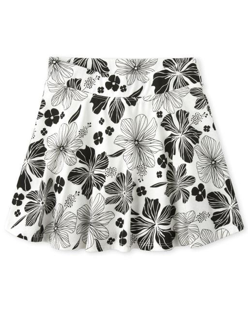 Girls Mix And Match Print Knit Skort