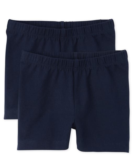 Girls Knit Cartwheel Shorts 2-Pack
