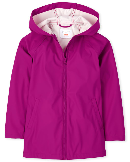 Girls Long Sleeve Raincoat