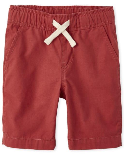 Shorts jogger de tejido plano sin cierre para niños