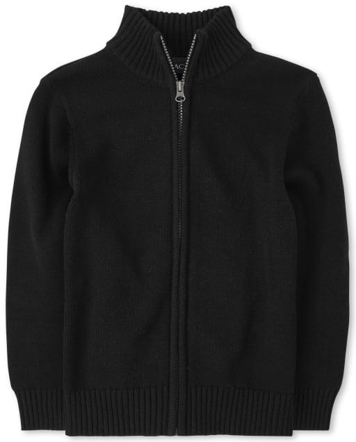 Jersey con cuello alto y cremallera uniforme para niños