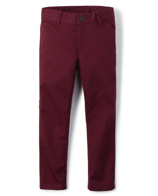 Boys Uniform Woven Stretch Skinny Chino Pants