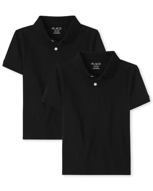 Boys Uniform Short Sleeve Pique Polo 2-Pack
