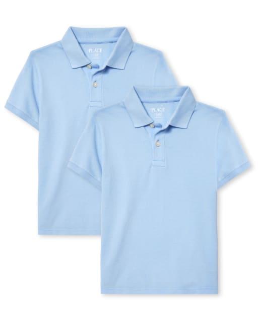Pack de 2 polos de piqué de manga corta de uniforme para niños