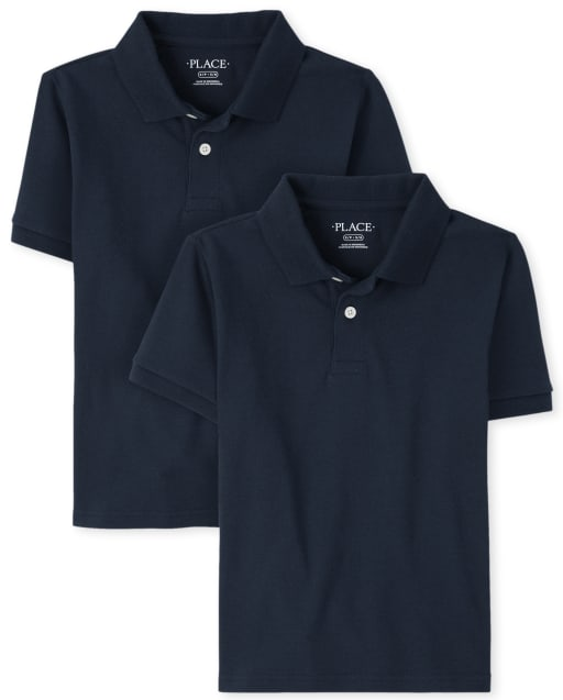 Boys Uniform Short Sleeve Jersey Polo 2-Pack
