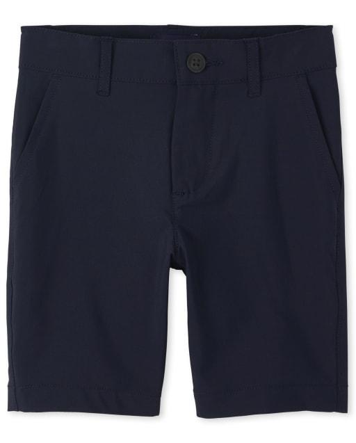 Shorts chinos de secado rápido y uniforme para niños