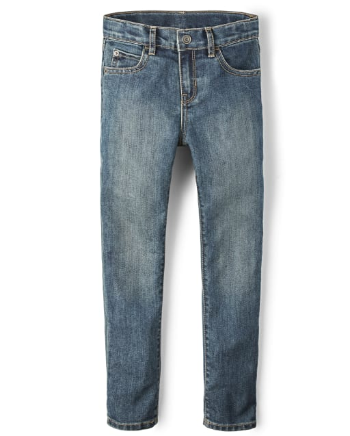 Boys Basic Skinny Stretch Jeans - Tide Pool Wash