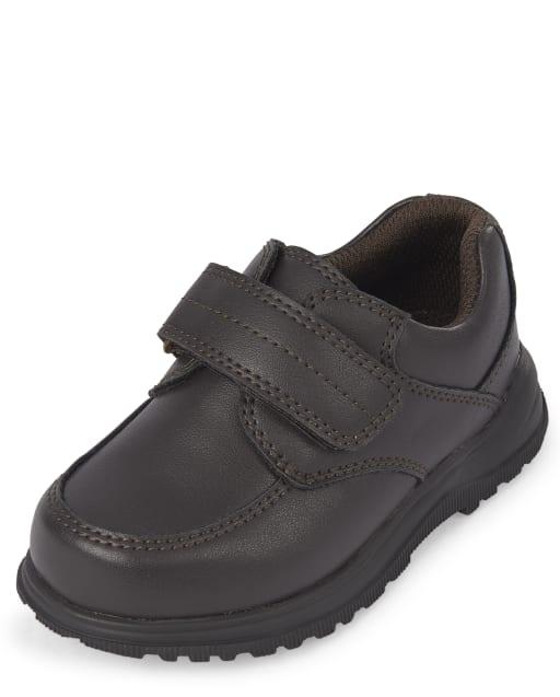 Toddler Boys Uniform Faux Leather Dress Shoes