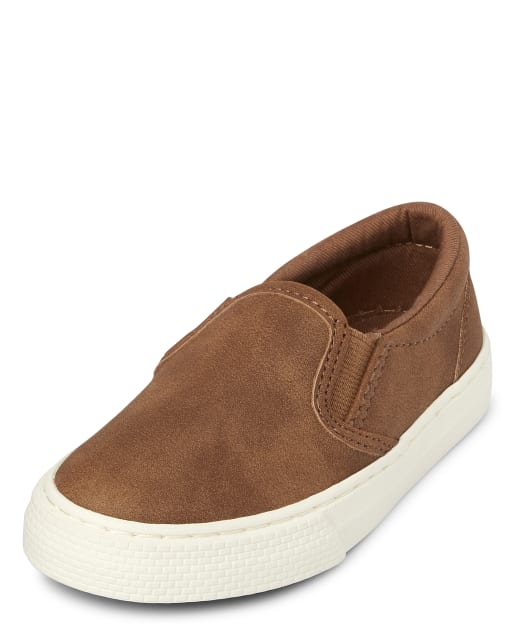 Toddler Boys Uniform Faux Leather Slip On Sneakers