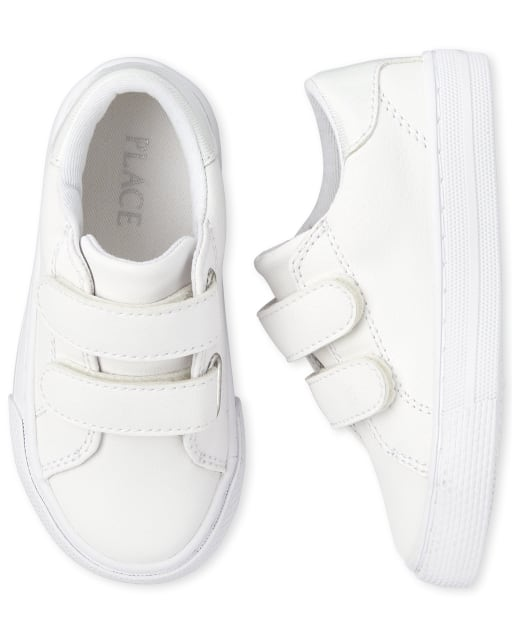 Toddler Girls Uniform Faux Leather Sneakers