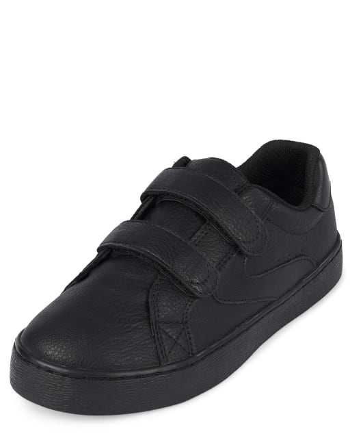 Boys Uniform Faux Leather Low Top Sneakers