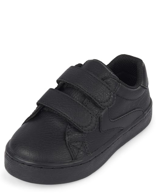 Toddler Boys Uniform Faux Leather Sneakers