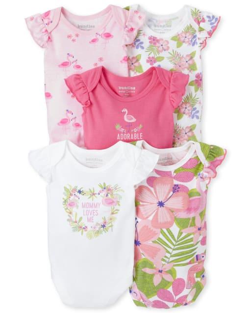 Body tropical para niñas bebés, paquete de 5
