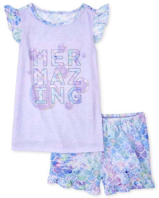 Pijamas de sirena para niñas